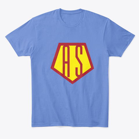 Autism Gives Me Superpowers Heathered Royal  T-Shirt Front