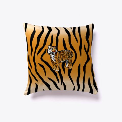 Tiger On Tiger Stripes Black T-Shirt Front