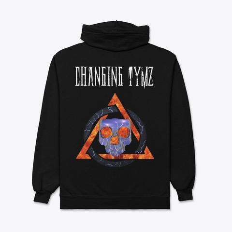 Changing Tymz Light Skull Zip Hoodie #1 Black T-Shirt Back