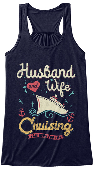 Husband And Wife Cruising Partners For Life Midnight T-Shirt Front