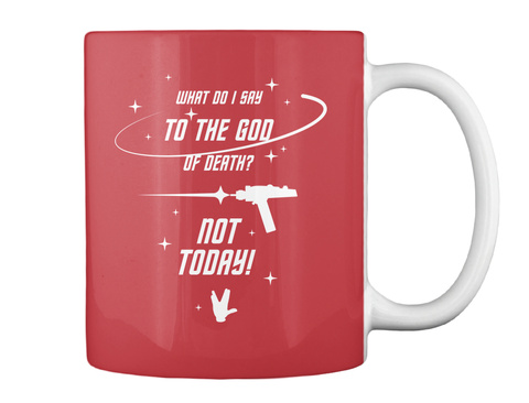 Brave Redshirt Mug [Usa] #Sfsf Bright Red Mug Back