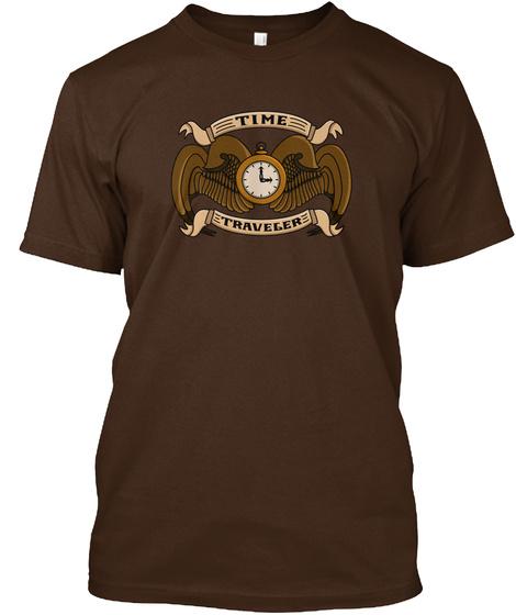 Official Steampunk Time Traveler Crest  Dark Chocolate T-Shirt Front