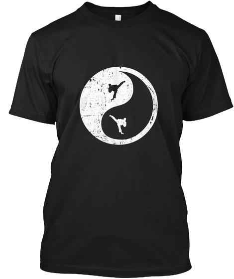 Martial Artist Ying Yang T Shirt Black T-Shirt Front