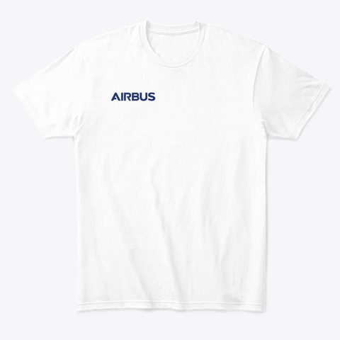 Airbus T Shirt White T-Shirt Front