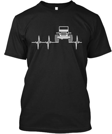 O |||| O  Heartbeat Black T-Shirt Front
