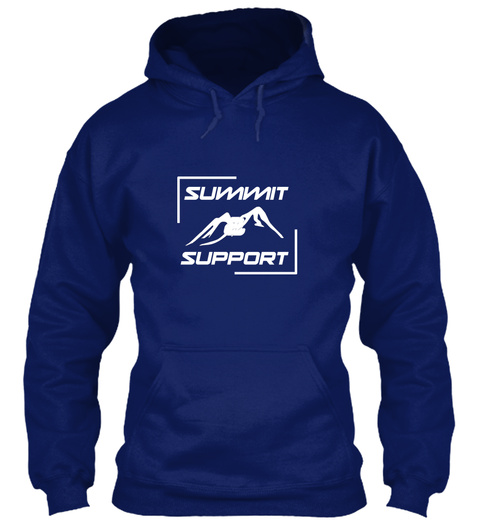 Summit And Support Charity Climb Oxford Navy T-Shirt Front