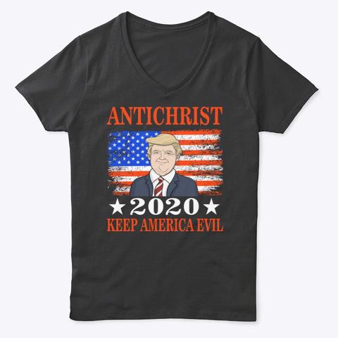 Anti Christ 2020   Keep America Evil Black T-Shirt Front