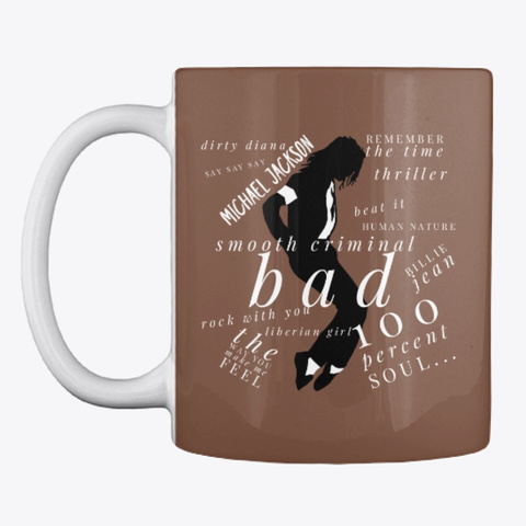 M. J Coffee Mug Is A All Time Classic Brown T-Shirt Front