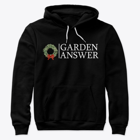 Garden Answer / Red Bow Wreath White Black T-Shirt Front