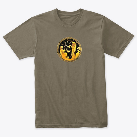Athena And Hercules Venetian Gray T-Shirt Front
