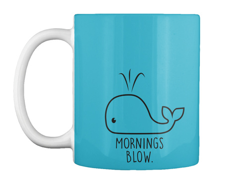 Morning Blow Turquoise T-Shirt Front