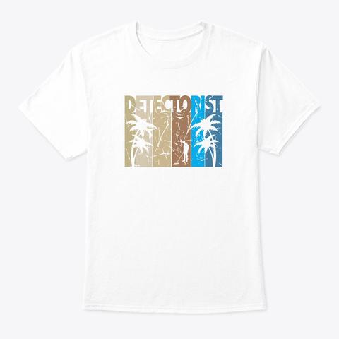 Palm Tree  Detectorist  White T-Shirt Front