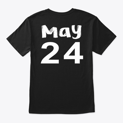 May 24   Gemini Black T-Shirt Back