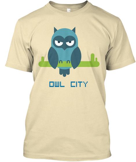 Owl City Cream T-Shirt Front