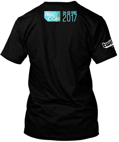 Roll Con 24 25 June 2017 Black T-Shirt Back