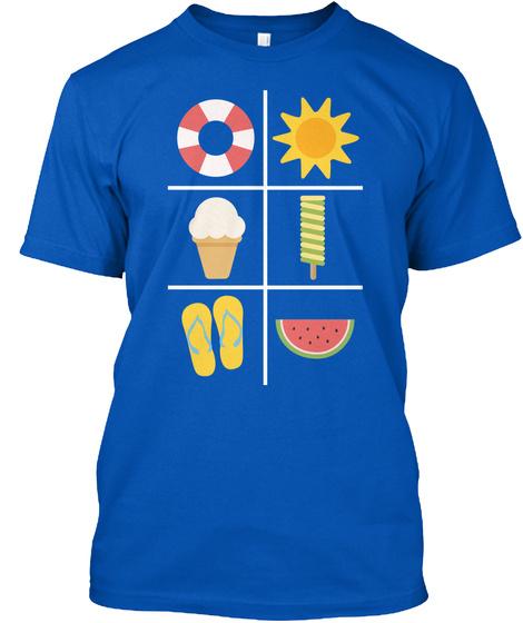 Summer Holidays...T Shirts Royal T-Shirt Front