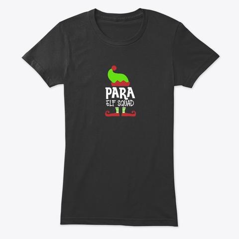 Christmas Para, Xmas Paraprofessional Vintage Black T-Shirt Front
