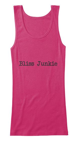 Women's Yoga Bliss Junkie T Shirt Berry T-Shirt Front