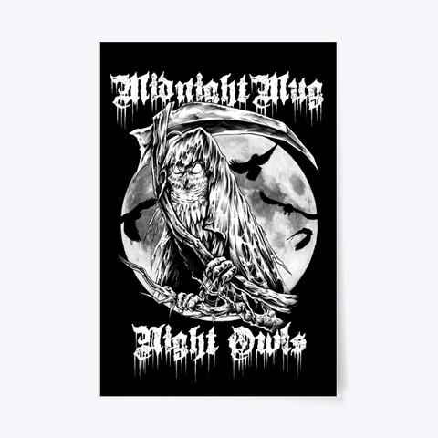 Midnight Mug Poster Black T-Shirt Front