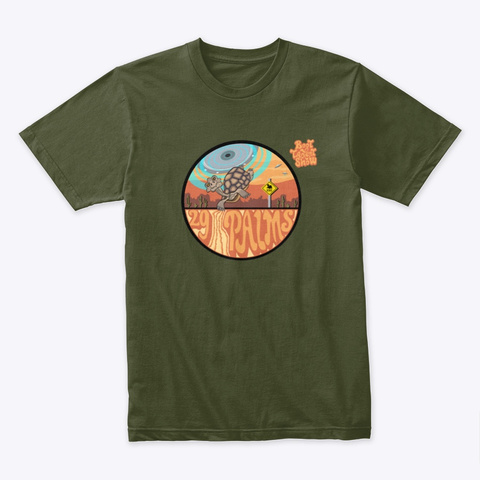 29 Palms Ufo Abduction Shirts Extended Military Green T-Shirt Front