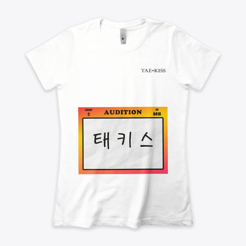 Kpop Audition White T-Shirt Front