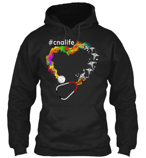 #Cnalife Black T-Shirt Front