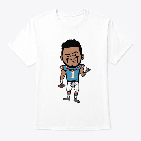 Dolphins Qb1 White T-Shirt Front