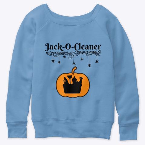Jack O Cleaner Blue Triblend  T-Shirt Front