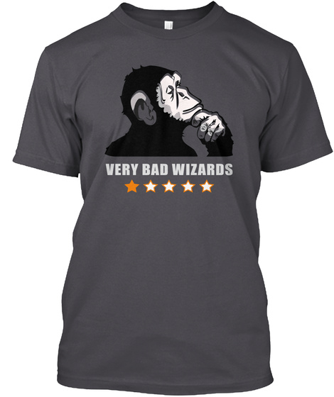Very Bad Wizards Stuff (Orange Star) Asphalt T-Shirt Front