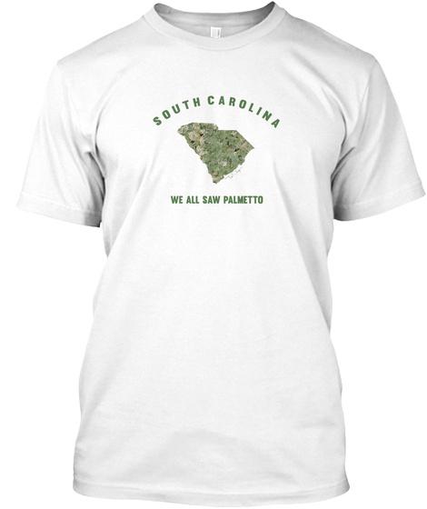 Sc South Carolina State Saw Palmetto Tee White T-Shirt Front
