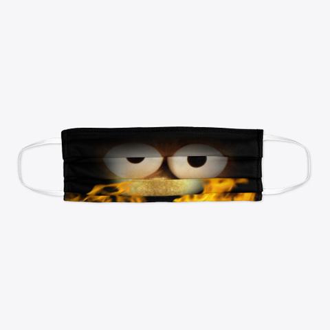 Burning Fraggle Face Mask Black T-Shirt Flat