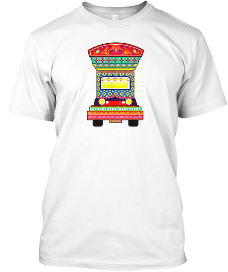 Truck Art Colorful T Shirt Gift White T-Shirt Front