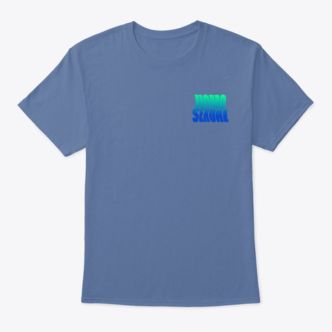 Retro Homo Denim Blue T-Shirt Front