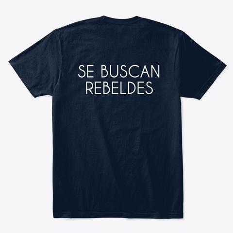 Camiseta Azul Se Buscan Rebeldes New Navy T-Shirt Back