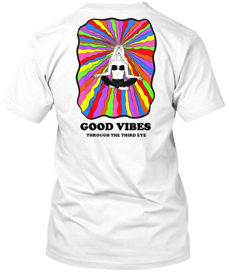 Good Vibes White T-Shirt Back