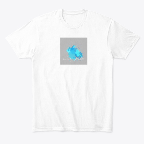 Contemporary Ink Blot White T-Shirt Front
