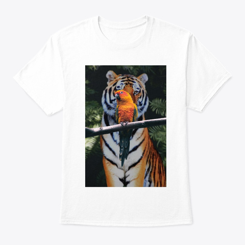 Tirget White T-Shirt Front