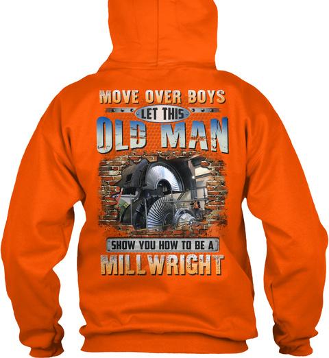 Awesome Millwright Safety Orange T-Shirt Back