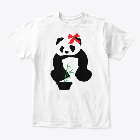 Disappointed Panda – Poignant Graphic White T-Shirt Front