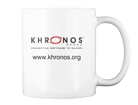 Khronos Group Connecting Software To Silicon Www.Khronos.Org White Mug Back