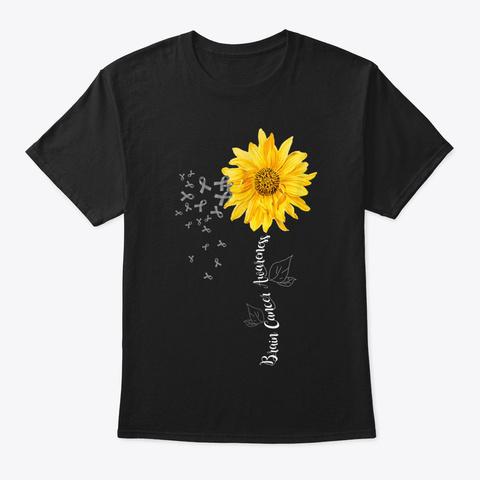 Brain Cancer Awareness Ao Black T-Shirt Front