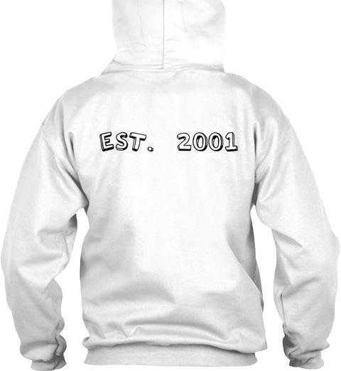 Est. 2001 Arctic White T-Shirt Back