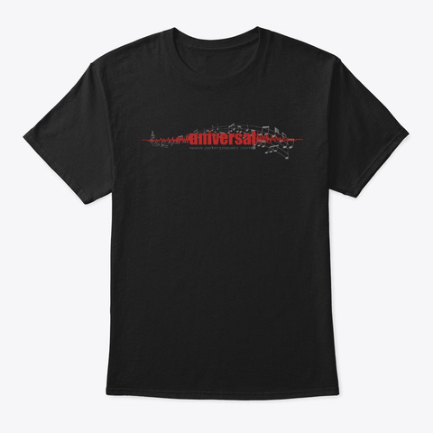 Music Is Universal Black T-Shirt Front