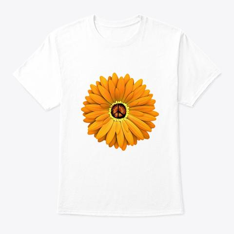 Flower Children Daisy Flower Costume White T-Shirt Front