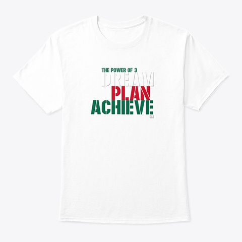 The Power Of 3 Mexico White T-Shirt Front