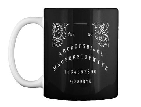 Yes No Abcdefghijklmnopqrstuvwxyz 1234567890 Goodbye Black T-Shirt Front