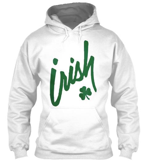 Irish Clover St Patricks Day Shirt White T-Shirt Front