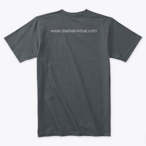 Dash Airlines  Heavy Metal T-Shirt Back