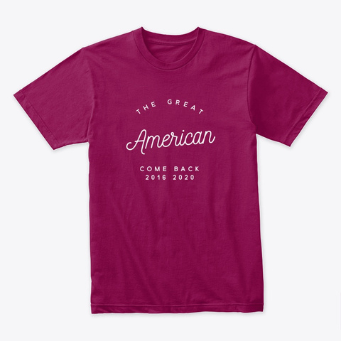 The Great American Come Back Cardinal T-Shirt Front
