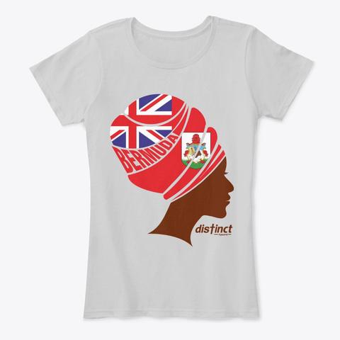 Bermuda Nubian Queen Light Heather Grey T-Shirt Front